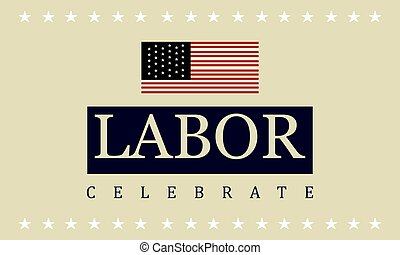 Background labor day style collection