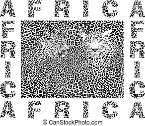 Background Leopard and text Africa