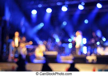 Background light illumination - Outdoor rock concert light...