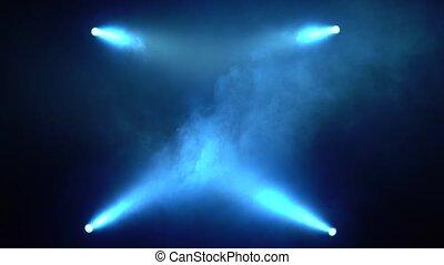 background lights flash blue