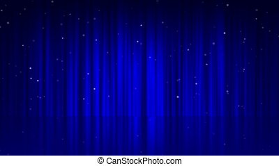 background line curtain blue