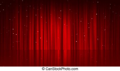 background line curtain red