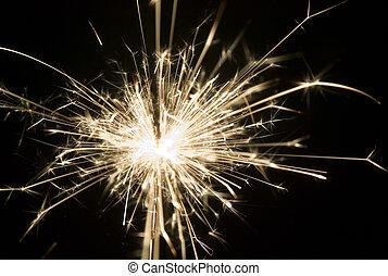 Background made from light of sparkler