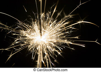 Background made from light of sparkler