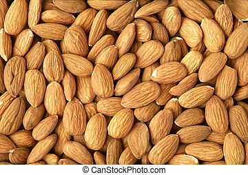 Background made of almonds