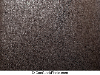 background made ??of brown leather material. macro
