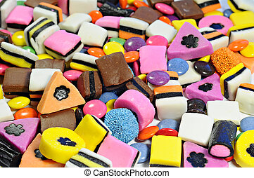 Background made of colorful candy