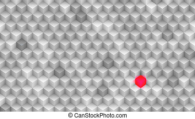 Background Made of Cubes - Its about thinking different, be...