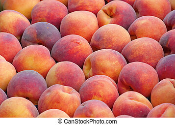 fresh ripe peaches - Background made of fresh ripe peaches