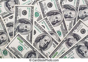 Background made of hundred dollar bills
