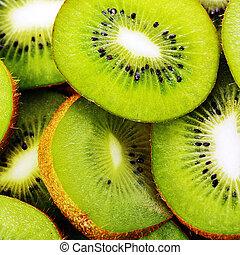 background made of kiwi