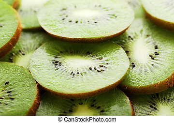 background made of kiwi