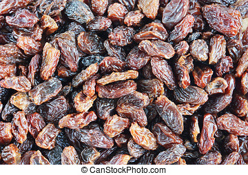Background Made Of Raisin