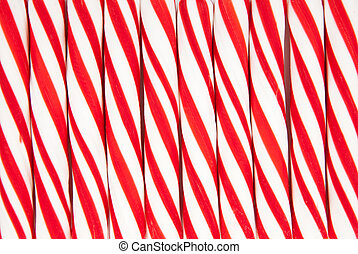 Background made of red and white candy canes