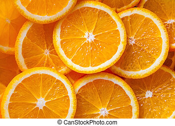 background made of sliced juicy oranges