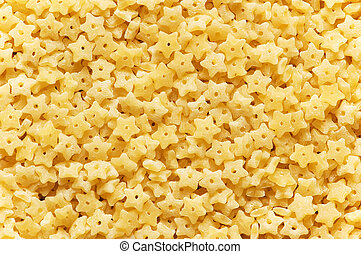 Background made of star shaped pasta pieces