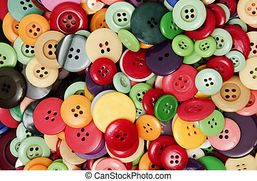 background made with a lot of colored buttons
