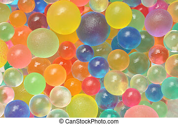 Background made with scattered color balls