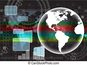 Background map of the world vector