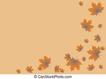 background maple leaves
