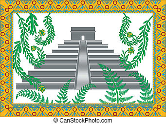 background maya pyramid