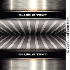 Background metal texture, 3D vector illustration.