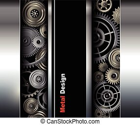 Background metallic gears