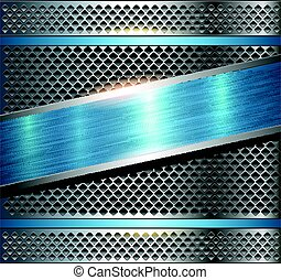 Background metallic silver blue - Background metallic silver...