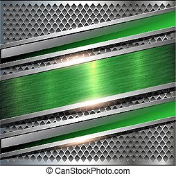 Background metallic silver green