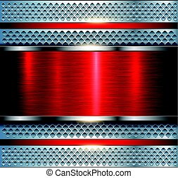Background metallic silver red