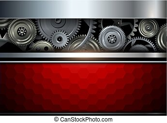 Background metallic with gears