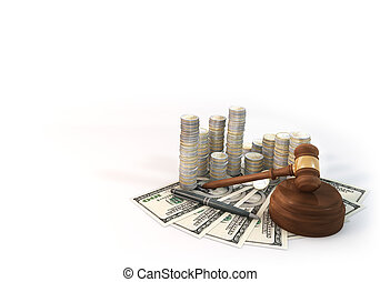 Background Money Stack of Auction