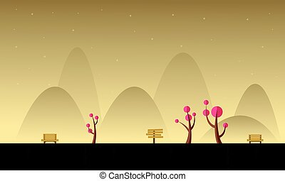 Background mountain landscape for game