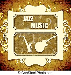 background music jazz saxophone and guitar