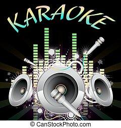 Background music, karaoke, vector illustration