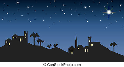 background night bethlehem for christmas