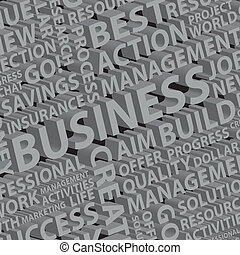 Background of 3d different business words