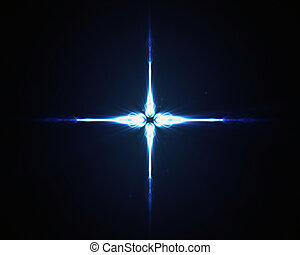 Background of a blue star in the middle