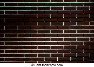 background of a brick dark wall, tile texture with a smooth pattern.