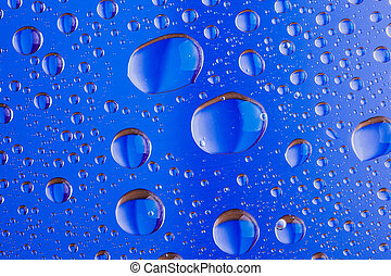 Background of a drop on glass