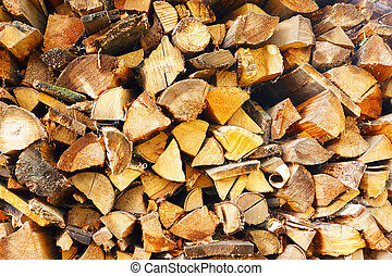 Background of a firewood stack