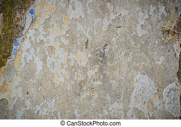 Background of a stained grungy gray cement wall
