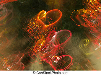 background of abstract hearts