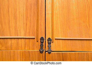 background of an old cabinet