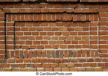 background of an old wall with red bricks