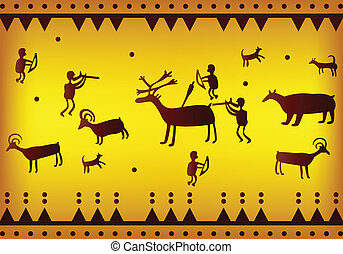 Background of ancient America - vector of Background of...