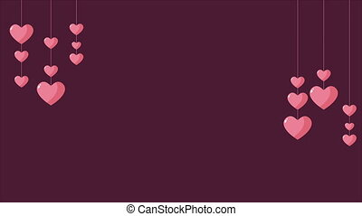 Background of animation love. Valentine