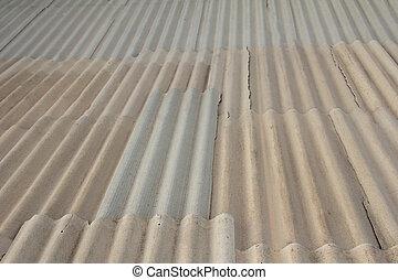 background of asbestos slate roof
