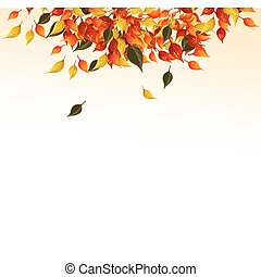 Background of autumn leaves.