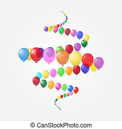 Background of balloons.